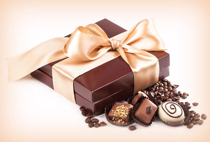 chocolate como presente