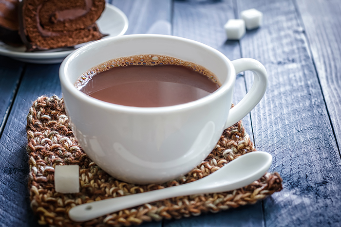 tomar chocolate quente